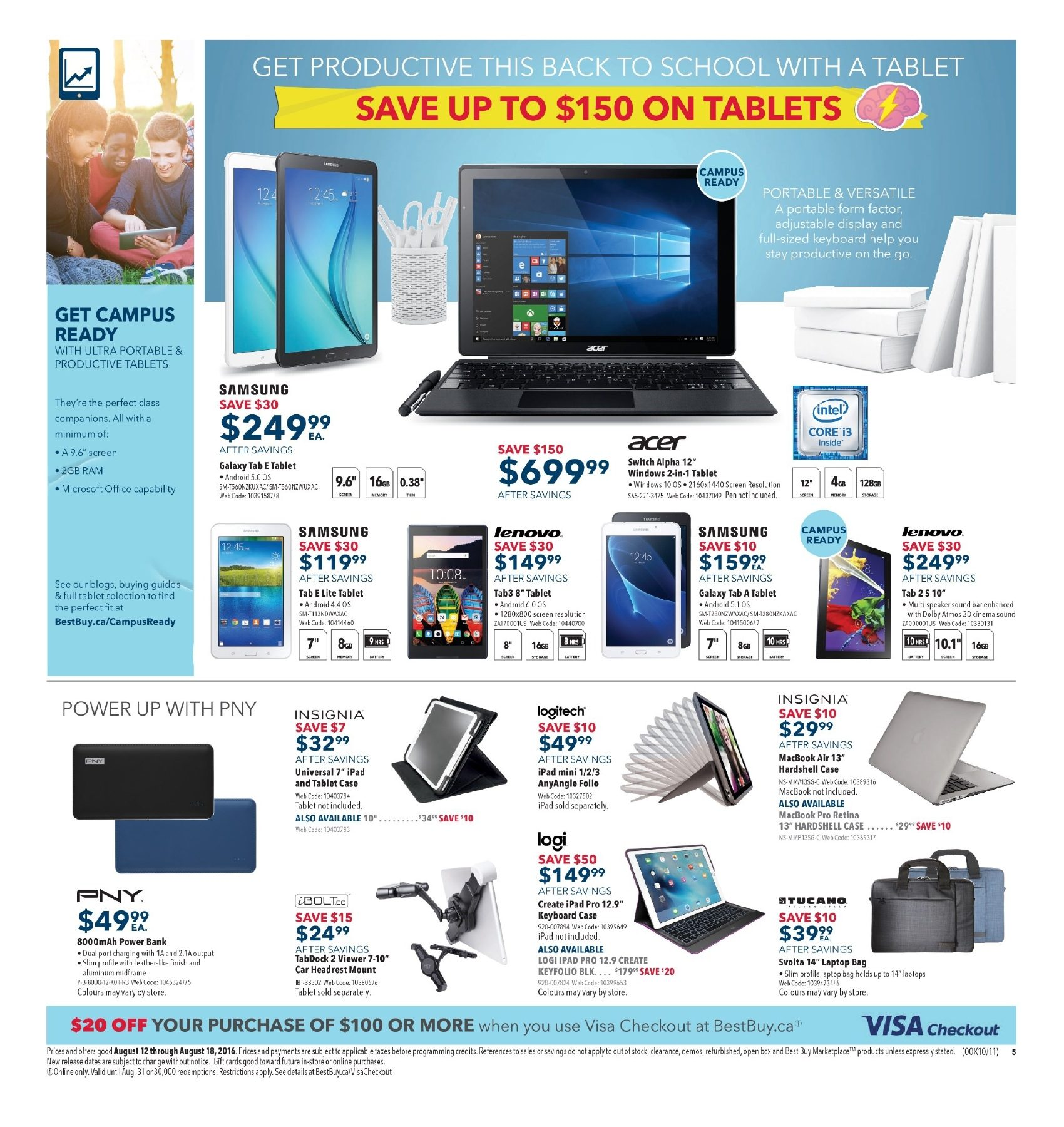 Best Buy Weekly Flyer Save On Laptops Excel All Year Ozone 721 Shoulder Bag For Tablet