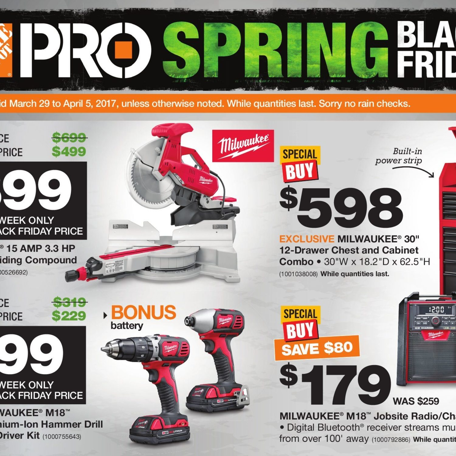 Home Depot Weekly Flyer Pro Savings Spring Black Friday Mar 29