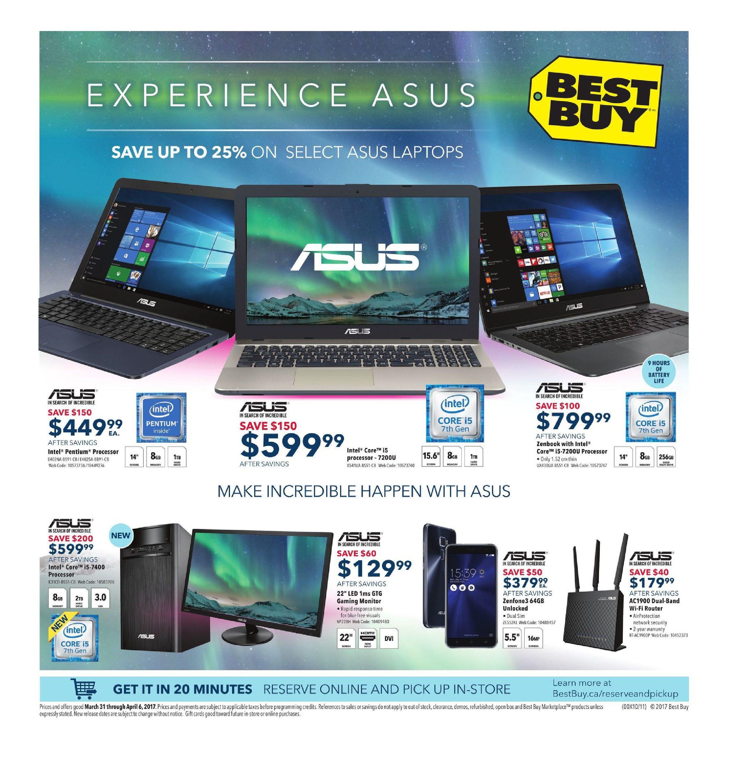 Best Buy Weekly Flyer - Weekly - Experience Asus - Mar 31 – Apr 6 ...