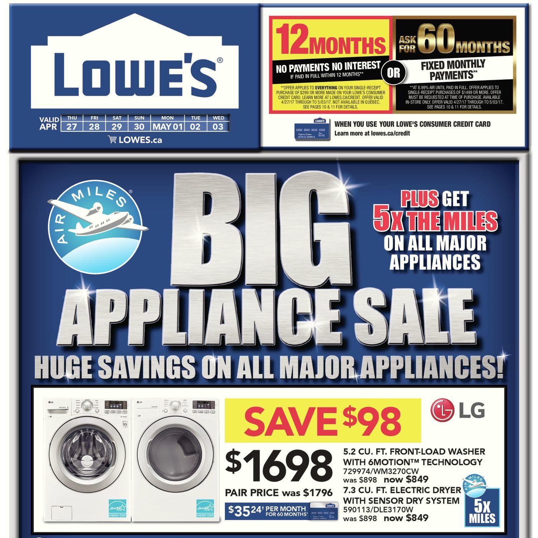 Lowe\'s Weekly Flyer - Weekly - Big Appliance Sale - Apr 27 – May 3 ...