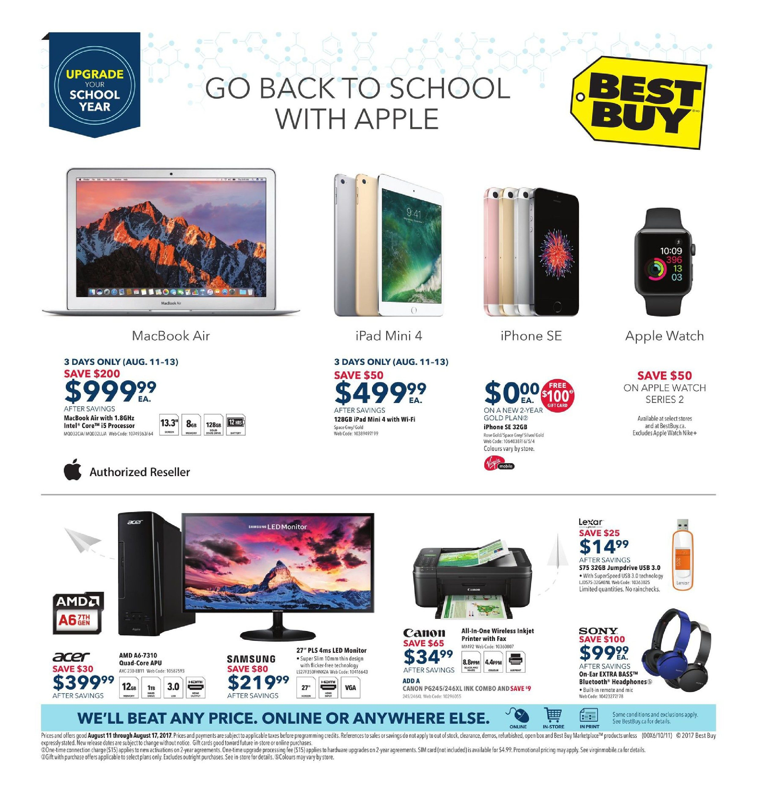 52e648e6cfa5 Best Buy Weekly Flyer - Weekly - Go Back To School With Apple - Aug 11 – 17  - RedFlagDeals.com