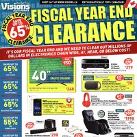 Visions Electronics - Weekly - Fiscal Year End Clearance Flyer