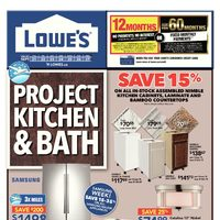 Lowe's - Weekly - Project Kitchen & Bath Flyer