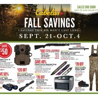 Cabelas - Fall Savings Flyer