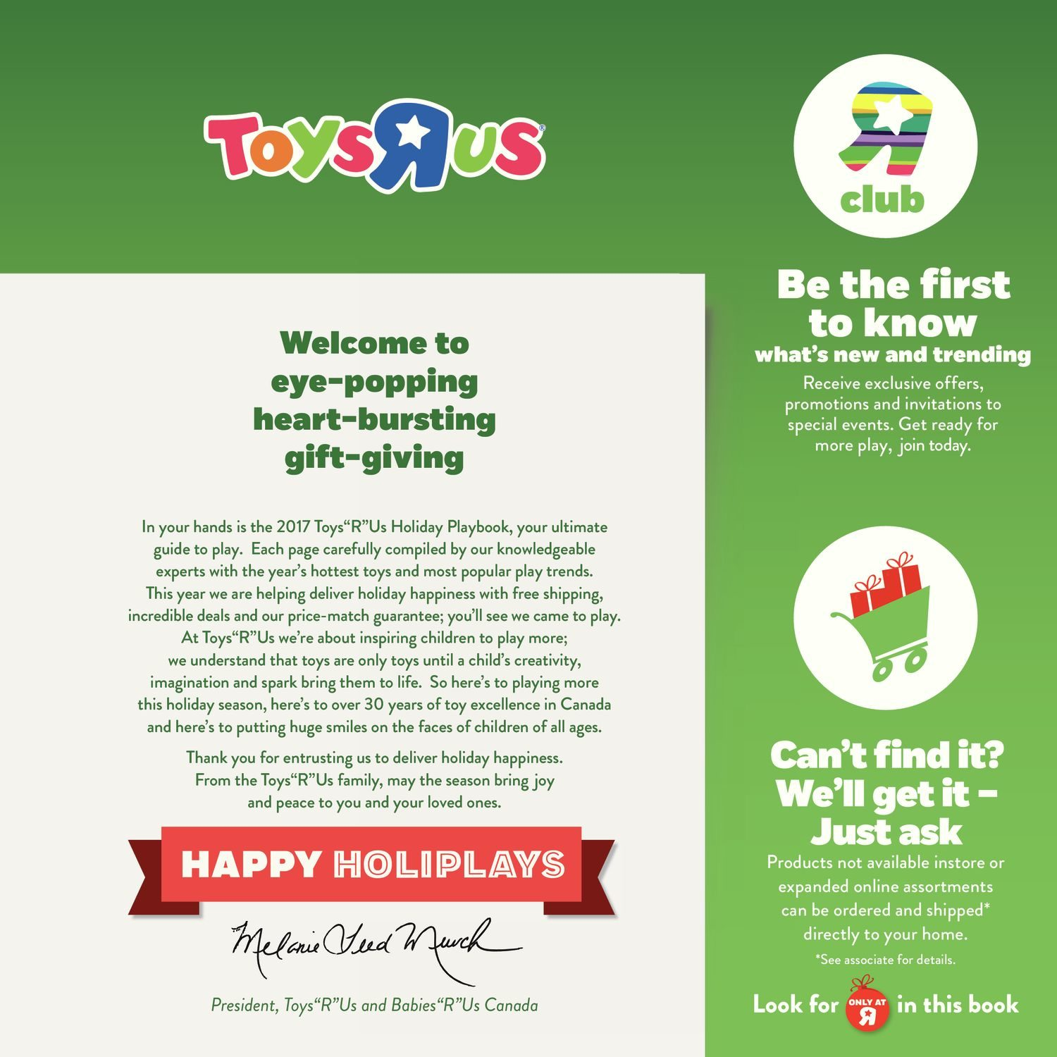 Toys R Us Weekly Flyer 2017 Playbook Nov 3 – 16 RedFlagDeals