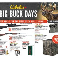 Cabelas - 2 Weeks of Savings - Big Buck Days Flyer