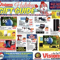 Visions Electronics - Holiday Gift Guide Flyer