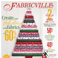 Fabricville - Club Members Only - Create Your Holidays with Fabrics Flyer