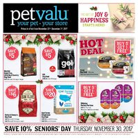 Pet Valu - The Gift of Joy & Happiness Starts Here! Flyer