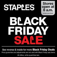 Staples - Weekly - Black Friday Sale Flyer