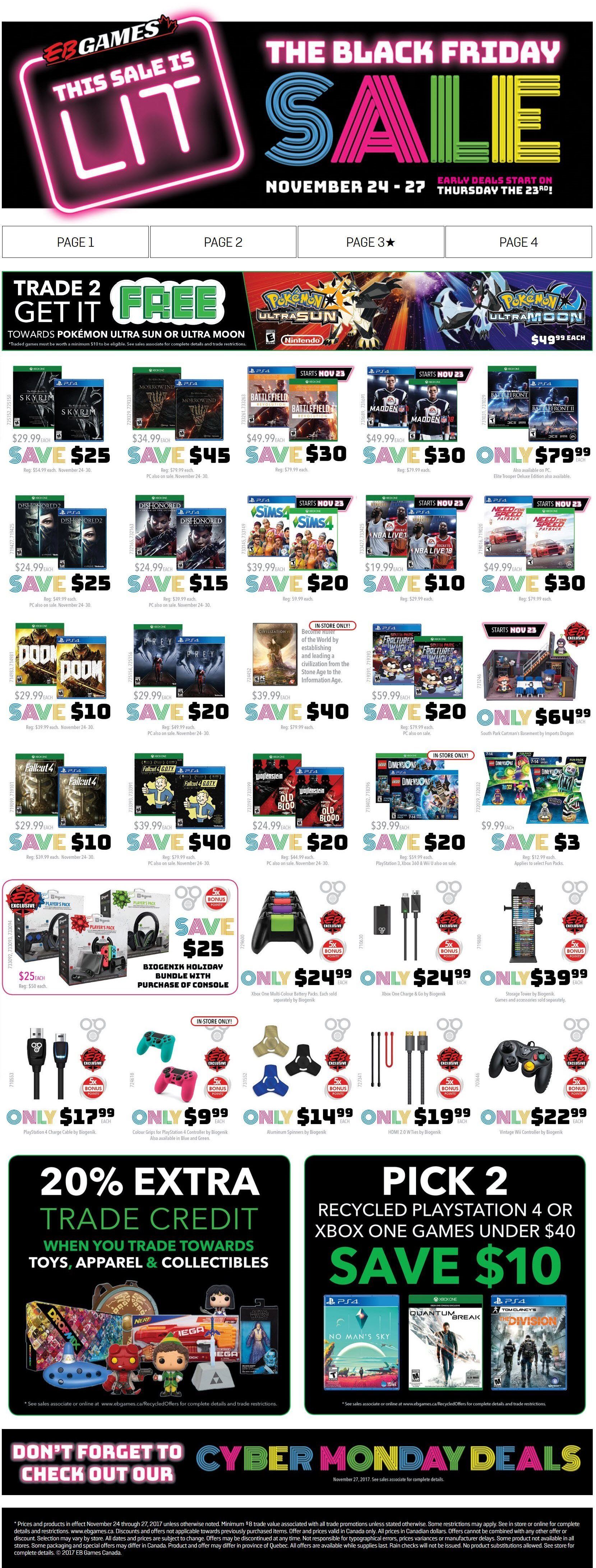 Eb Games Weekly Flyer The Black Friday Sale Nov 24 27