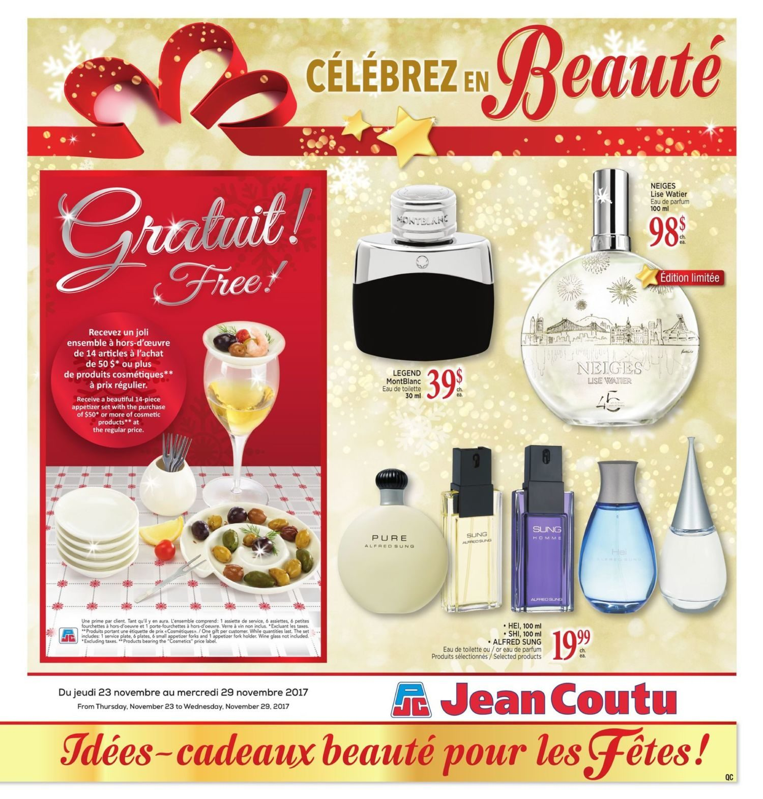 Jean Coutu Weekly Flyer Celebrate With Beauty Nov 23 29
