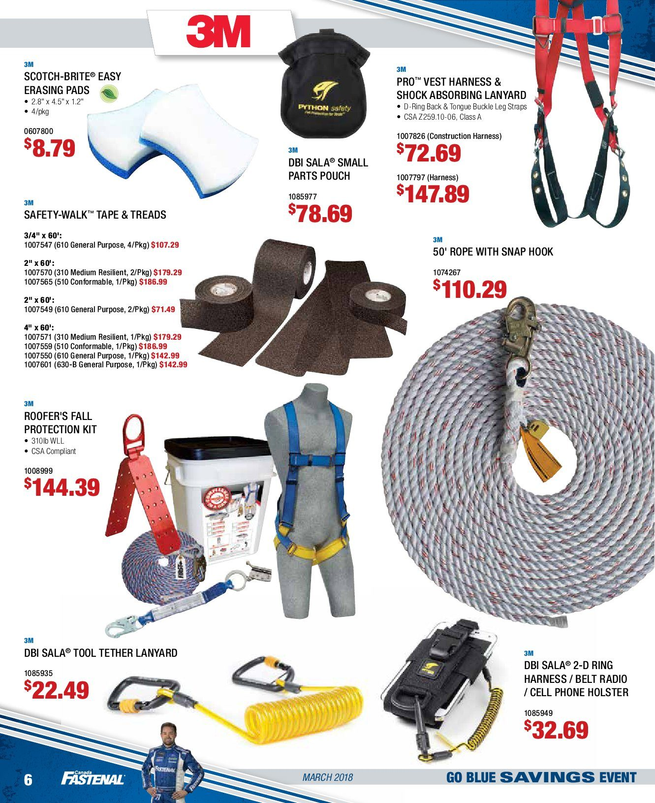 Fastenal Weekly Flyer Go Blue Savings Event Mar 1 – 31