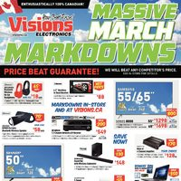 Visions Electronics - Weekly - Massive March Markdowns Flyer
