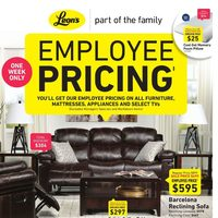 Leon's - Part of the Family - Employee Pricing Flyer