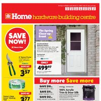 Home Hardware - Building Centre - The Spring Clean-up Event Flyer