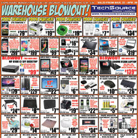Tech Source - Warehouse Blowout! Flyer
