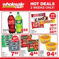 Wholesale Club - Hot Deals - 2 Weeks Only! Flyer