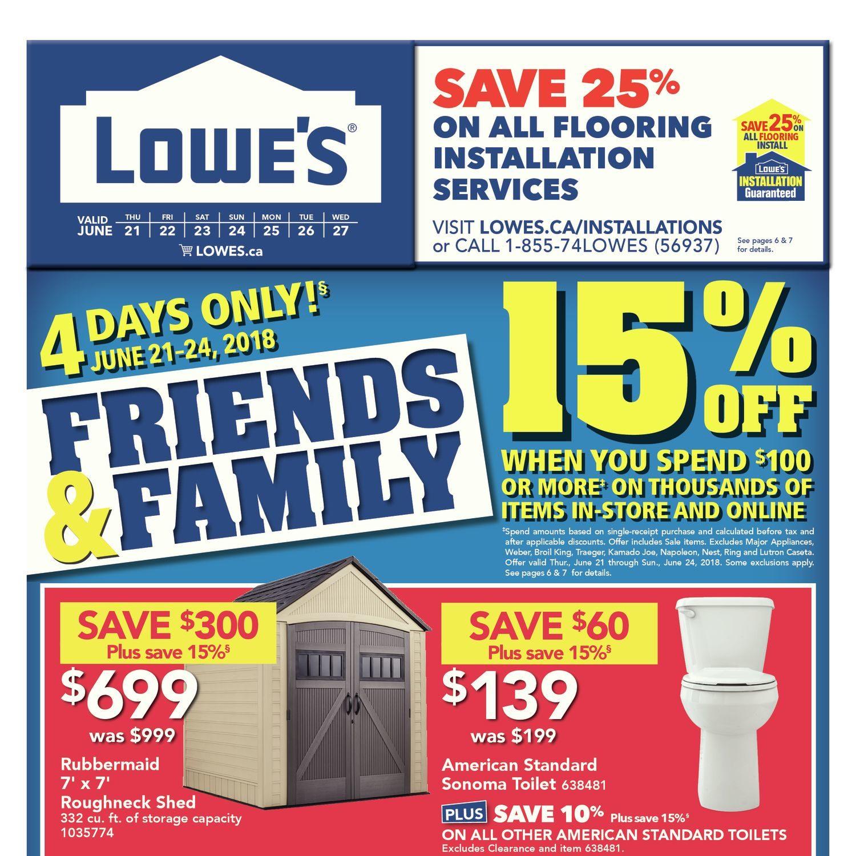 Lowe\'s Weekly Flyer - Weekly - Friends & Family - Jun 21 – 27 ...