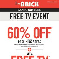 The Brick - Saving You More - Free TV Event Flyer