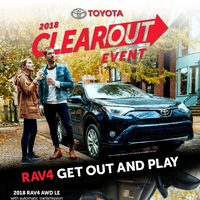 Toyota Canada - 2018 Clearout Event Flyer