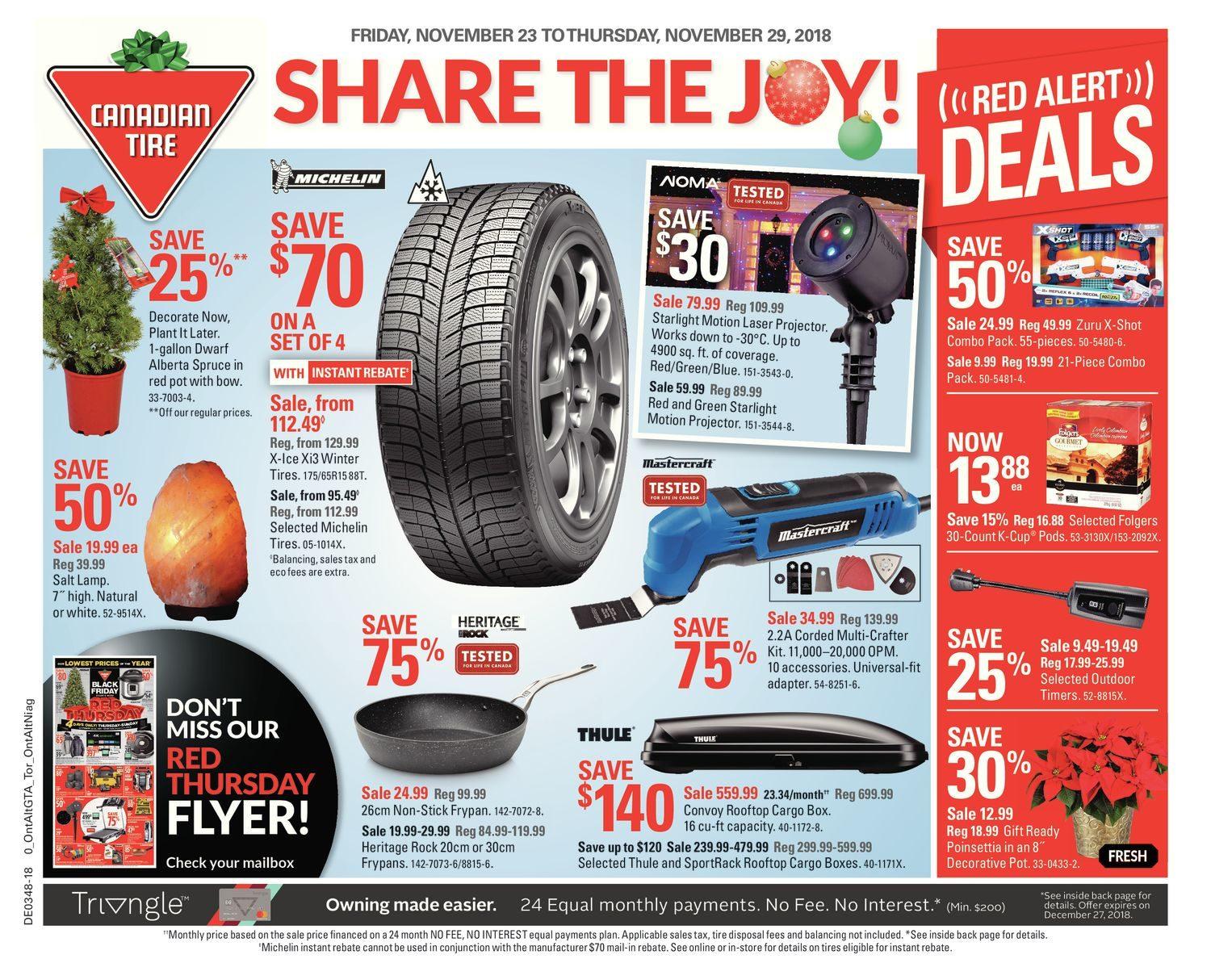 Canadian Tire Weekly Flyer Weekly Share The Joy Nov
