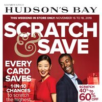 The Bay - Weekly - Scratch & Save Event Flyer