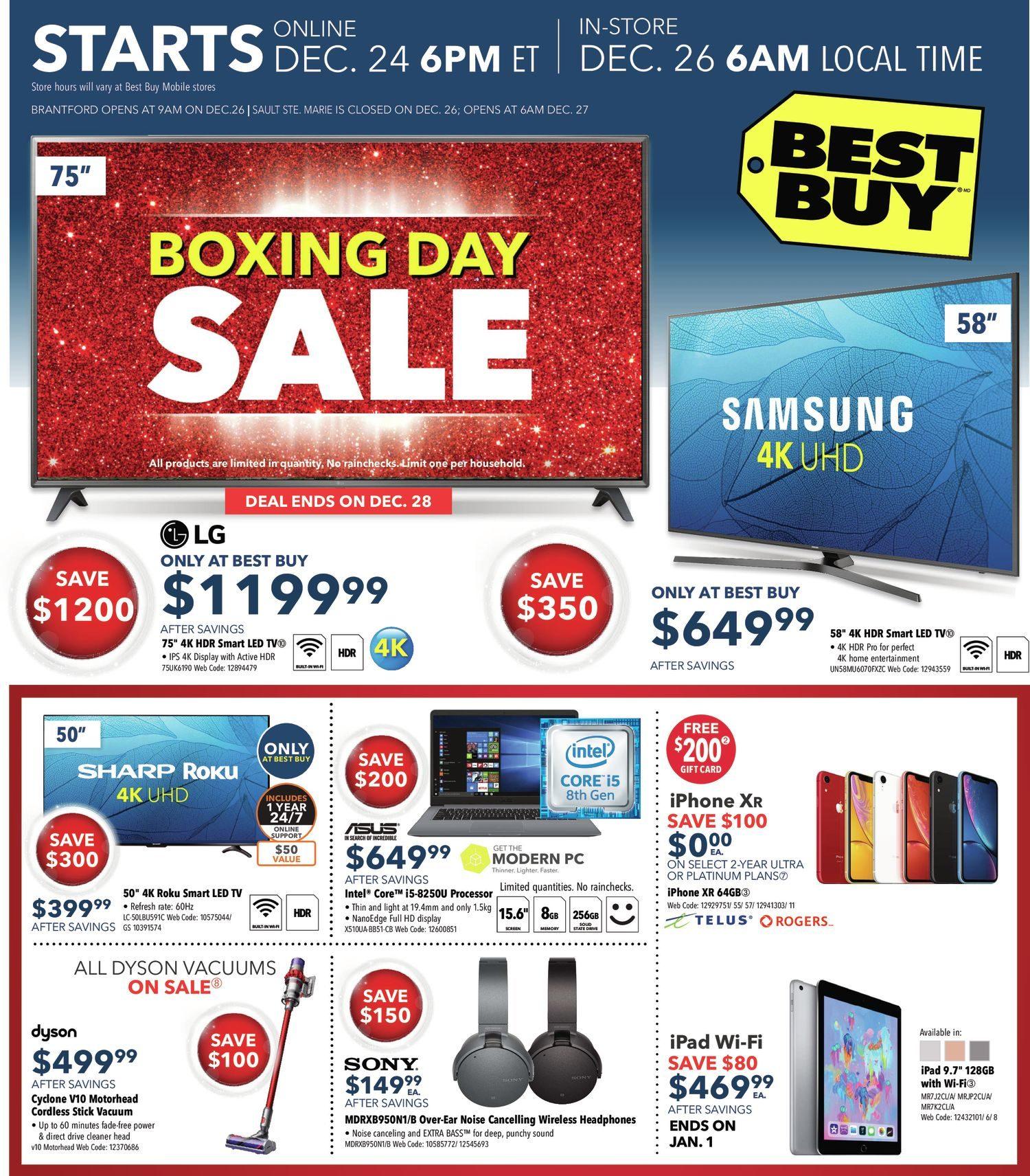 Best Buy Weekly Flyer Boxing Day Sale Dec 25 Jan 3 Redflagdeals Com
