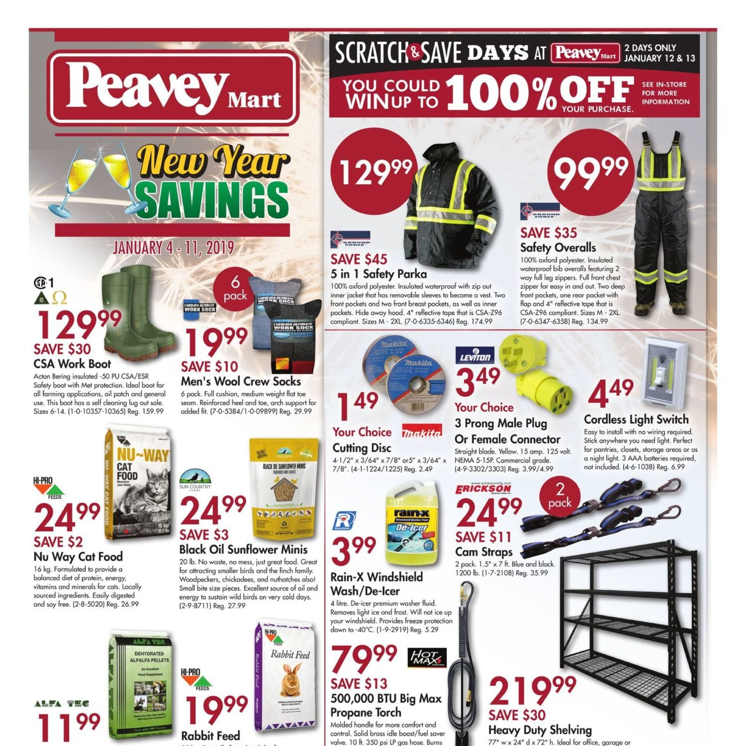 peaveymart weekly flyer new year savings jan 4 11