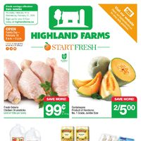 Highland Farms - 2 Weeks of Savings - Start Fresh Flyer