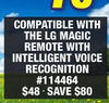 Compatible With the Lg Magic Remote With Intelligent Voice Recognition