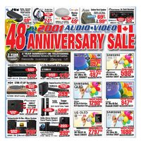 2001 Audio Video - Weekly - 48th Anniversary Sale Flyer