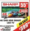 Sharp 4K UHD HDR Smart LED TV - 55""