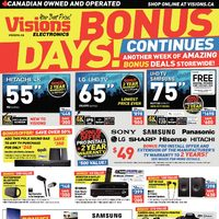 Visions Electronics - Weekly - Bonus Days! Continues Flyer