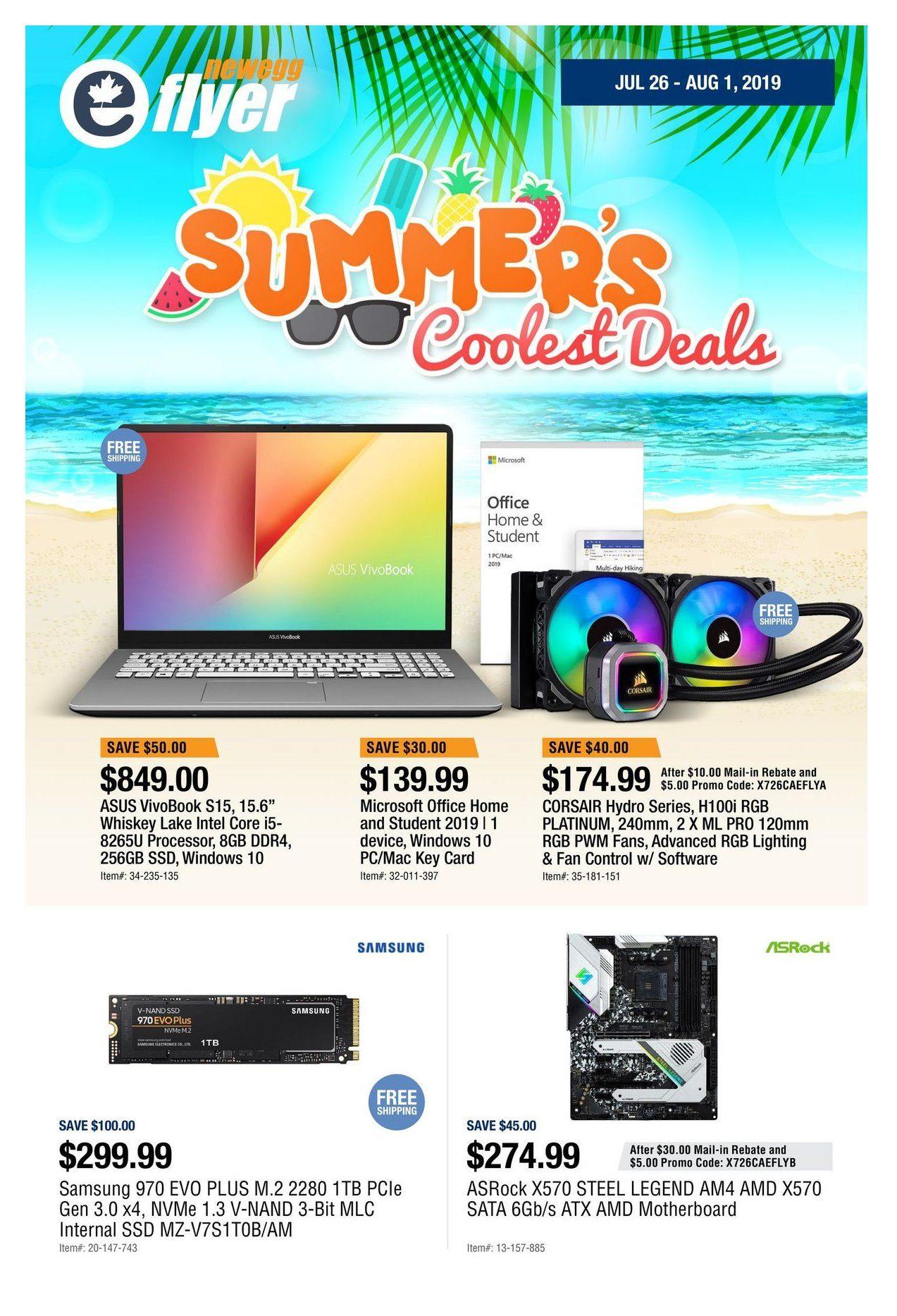 Newegg Weekly Flyer - Summer's Coolest Deals - Jul 26 – Aug