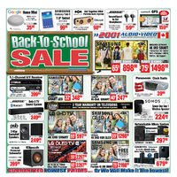 2001 Audio Video - Weekly - Back-To-School Sale Flyer