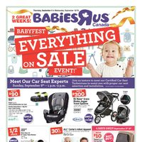 Babies R Us - 2 Great Weeks! - Babyfest Event! Flyer