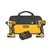 "Dewalt 20V XR Li-Ion Brushless Compact 1/2"" Drill/Driver and 1/4"" Impact Driver Combo Kit"