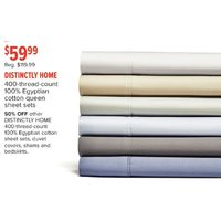Distinctly Home 400-Thread-Count 100% Egyptian Cotton Queen Sheets Sets