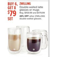 Zwilling Double-Walled Latte Glasses Or Mugs