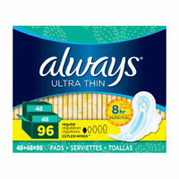 Always Ultra Thin Regular, Super or Overnight Pads