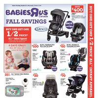 Babies R Us - Weekly - Fall Savings Flyer