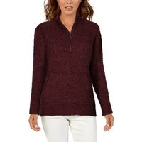 Natural Reflections Chenille Quarter-Zip Or Full-Zip Sweater