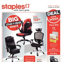 Staples - Weekly - Big Chair & Desk Event Flyer