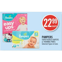 Pampers Super Boxed Diapers Or Training Pants