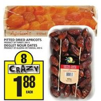 Pitted Dried Apricots, Deglet Nour Dates