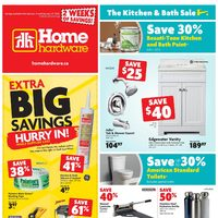 Home Hardware - 2 Weeks of Savings! - The Kitchen & Bath Sale Flyer