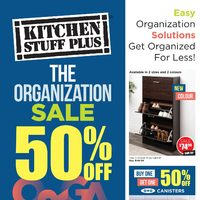 Kitchen Stuff Plus - The Organization Sale Flyer