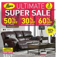 Leon's - 3-Days Only - Ultimate Super Sale Flyer