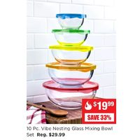 Vibe Nesting Glass Mixing Bowl Set